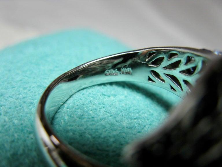 Sapphire Diamond Snake Ring 18 Karat White Gold Serpent Retro For Sale 6