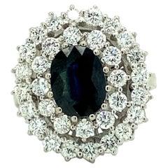 Sapphire & Diamonds Cocktail Ring