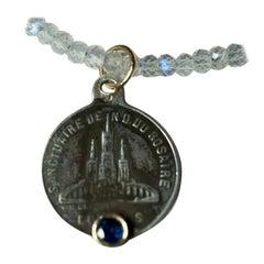Sapphire Medal Labradorite Necklace Silver Gold J Dauphin