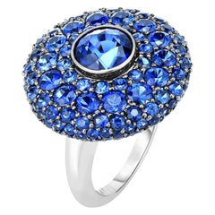 Cicada Sapphire Gold Cocktail Ring