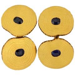 Sapphire Gold Cufflinks