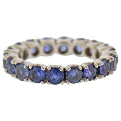 Sapphire Gold Eternity Band Ring