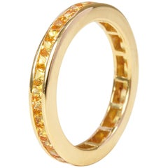 Sapphire Gold Eternity Ring, Made to Order