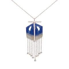 Sapphire Hexagon Pendant