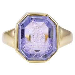 Saphir Intaglio Ring