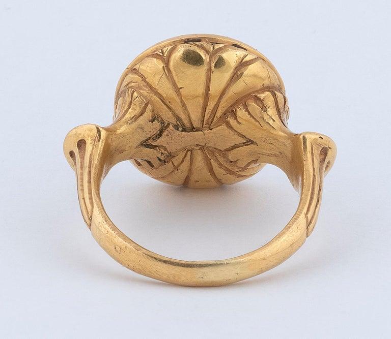 Sapphire Intaglio Ring Late 18th Century Roman Emperor Caligola 3