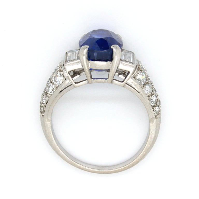 Sapphire 'No Heat' and Diamond Art Deco Ring, France, circa 1920s 6