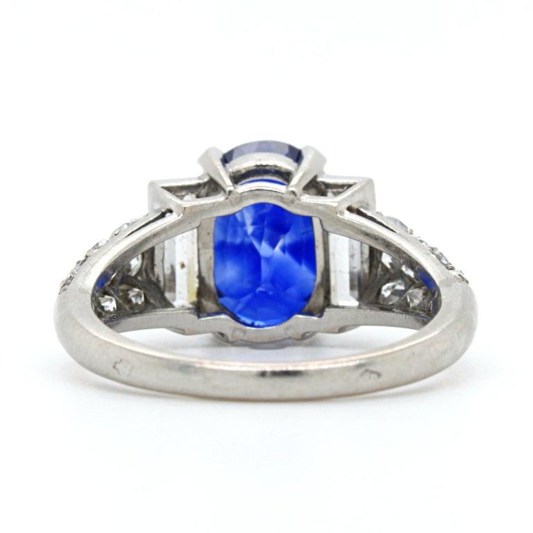 Women's Sapphire 'No Heat' and Diamond Art Deco Ring, France, circa 1920s