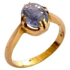 Sapphire Ring, 18 Karat Yellow Gold, the Netherlands, circa 1880