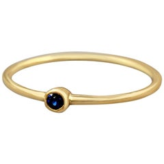 Sapphire Ring, Stackable Ring, Gold Sapphire 18K Ring, Rose Gold, Yellow Gold