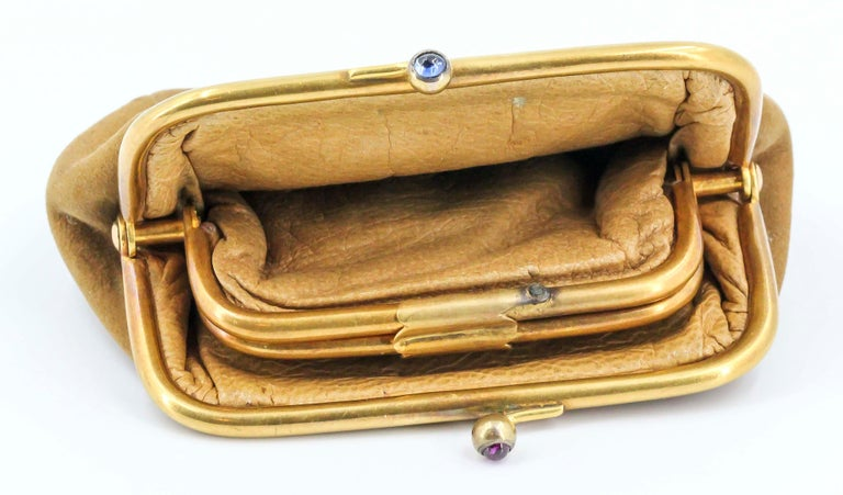 Sapphire, Ruby and Gold Coin Purse For Sale 4