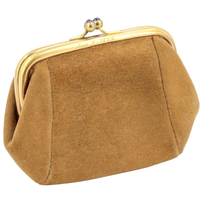 Sapphire, Ruby and Gold Coin Purse For Sale