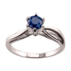 Sapphire White Gold Engagement Ring