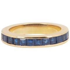 Sapphires 18 Carat Yellow Gold Band Ring
