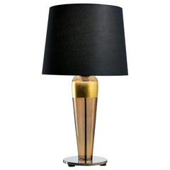 Sara 5574 Table Lamp in Glass with Black Shade, by Barovier&Toso