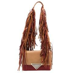 Sara Battaglia Multicolor Leather Teresa Fringe Shoulder Bag