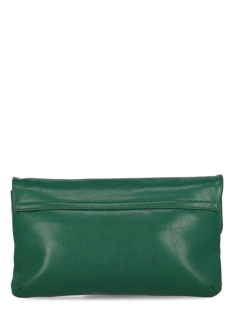 Women's Sara Battaglia Woman Shoulder bag  Green Leather