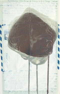 Boundary Rock 3 ('Darling Margaret' Khon Kaen 1957): Painting by Sara Dudman RWA