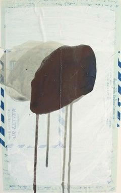Boundary Rock 4 ('Darling Margaret' Khon Kaen 1957): Painting by Sara Dudman RWA