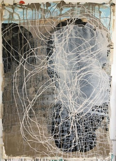 Dynamic Equilibrium (Stone Dialogue) 03: Painting by Sara Dudman RWA