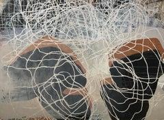 Dynamic Equilibrium (Stone Dialogue) 04: Painting by Sara Dudman RWA