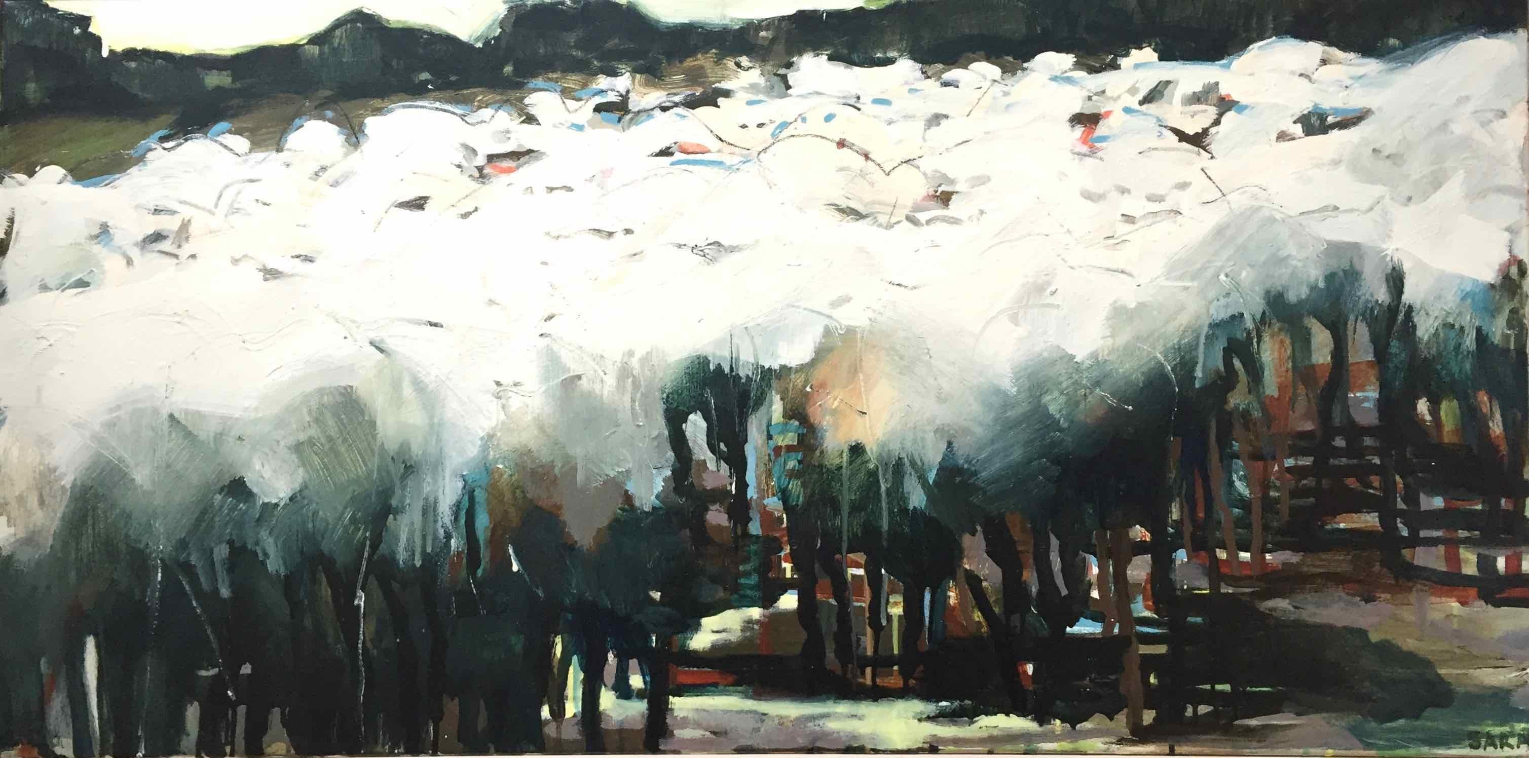 Rounding Up (June) II: Oil Painting by Sara Dudman RWA