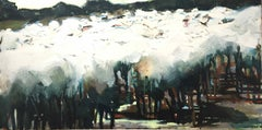 Rounding Up (June) II: Oil Painting by Sara Dudman RWA