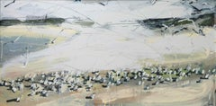 Sandpipers and Arctic Terns 1 (Northumberland): Oil Painting by Sara Dudman RWA