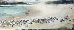 Sandpipers and Arctic Terns: Oil Painting by Royal West Acadamician