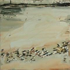 Sandpipers: Oil Painting by Sara Dudman RWA