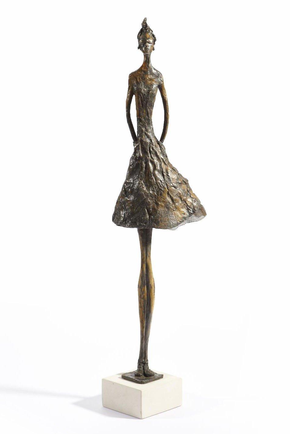 Jersey Lily - slim figurative bronze statue