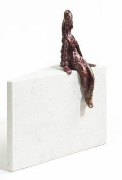 Margarita Time - figurative bronze statue
