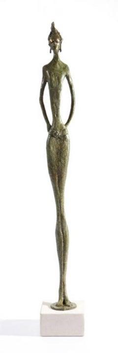 Mint Julep - slim figurative bronze statue