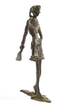 Walk in the Park - slim figurative bronze statue