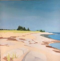 "Sara McCulloch ""Green Bay"" -- Coastal Landscape Oil Painting"