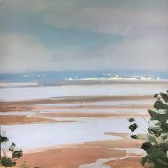 "Sara McCulloch ""Low Tide"" -- Coastal Beach Landscape Oil Painting"