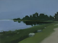 """Sara McCulloch """"(Penobscot) Driving Home"""" -- Coastal Landscape Oil Painting"""