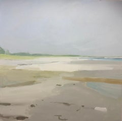 Seaside Adjunct Beach, landscape oil painting on canvas