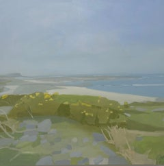 "Sara MacCulloch ""Machrins Beach, Colonsay"" - Beach scene oil painting on canvas"