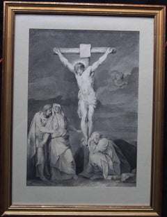 The Crucifixion of Jesus - Dutch Old Master painting 18th century female artist