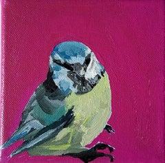 Sarah Adams, Bluetit in the Kitchen, Original animal painting, Affordable Art