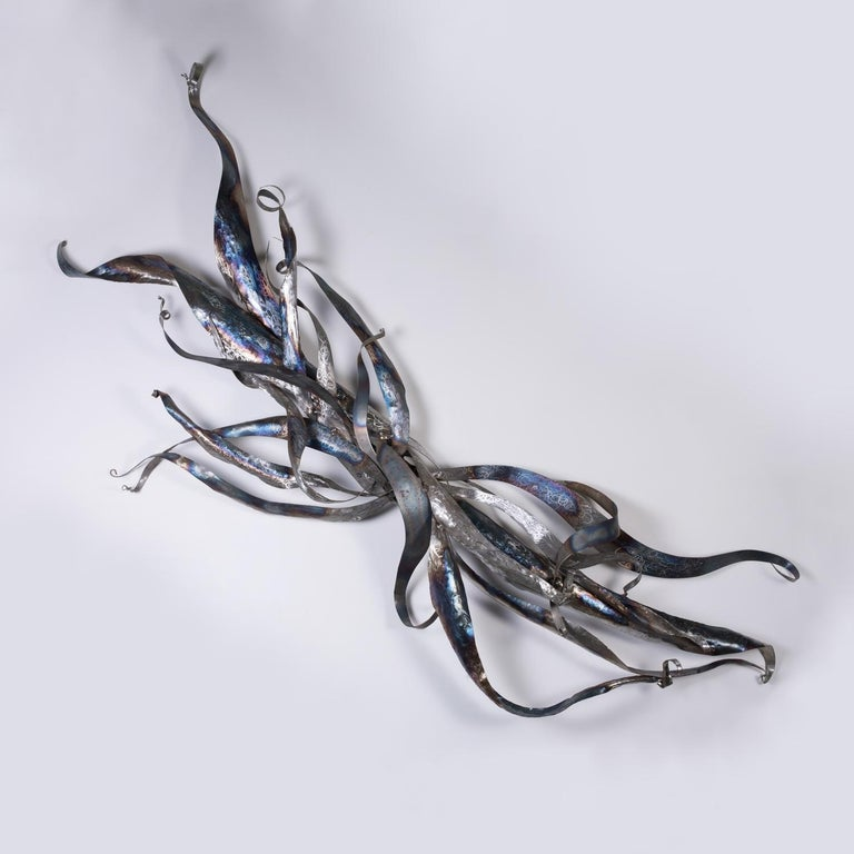 """Sarah Alexander Abstract Sculpture - """"Where Am I Going, I Don't Quite Know"""", steel, sculpture, industrial"""