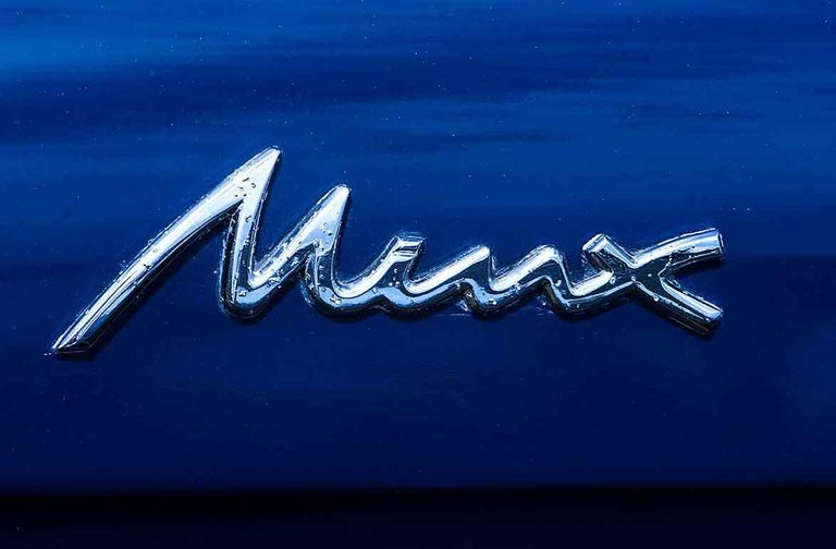 1960 Hillman Minx Series III Convertible - contemporary blue car lambda print For Sale 2
