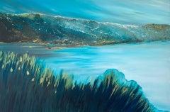 Tranquility, Sarah Berger, Original Coastal Painting, Contemporary Artwork
