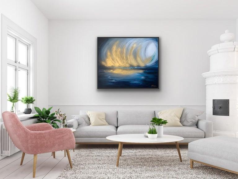 Sarah Berger, Gold Spectacular,  Original  Abstract Landscape Painting  2