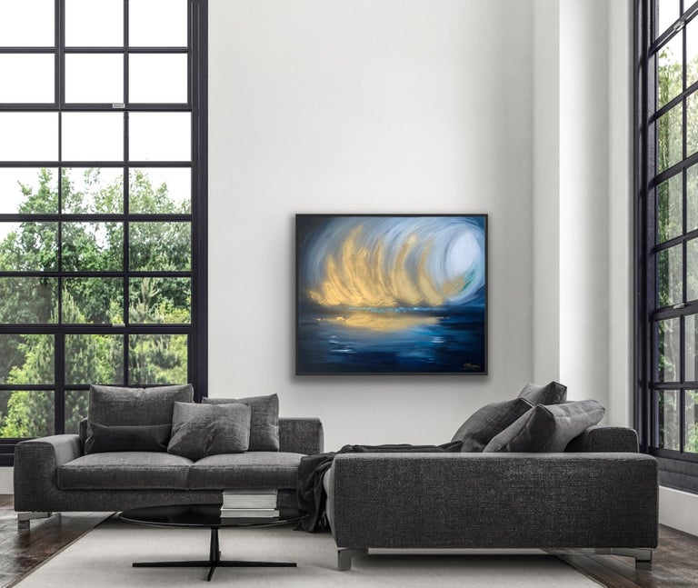 Sarah Berger, Gold Spectacular,  Original  Abstract Landscape Painting  3