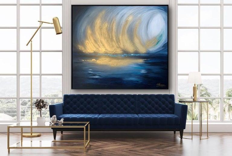 Sarah Berger, Gold Spectacular,  Original  Abstract Landscape Painting  5