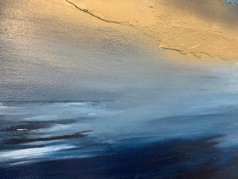 Sarah Berger, Gold Spectacular,  Original  Abstract Landscape Painting  6