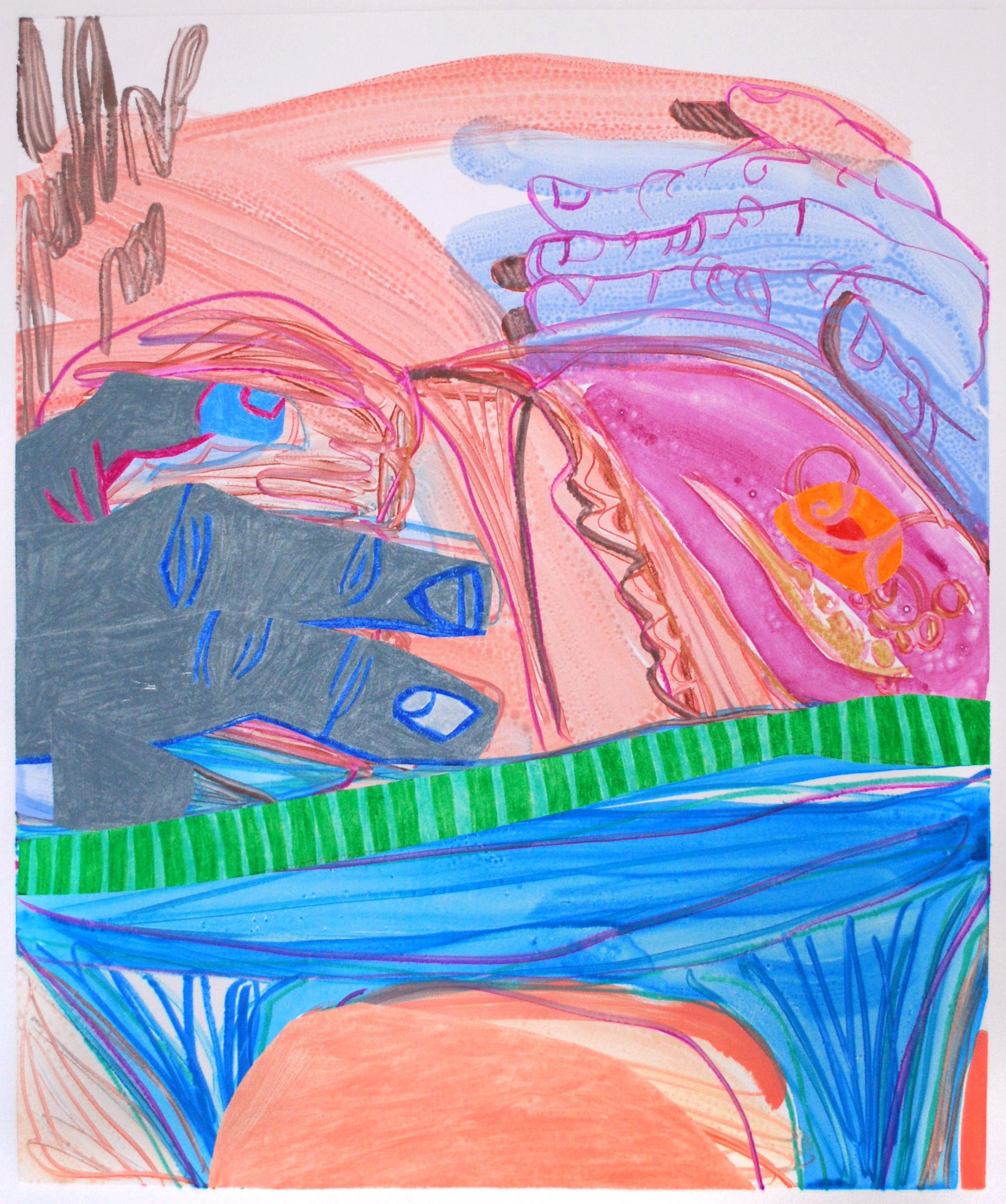 Sarah Faux Untitled Multicolor Monotype