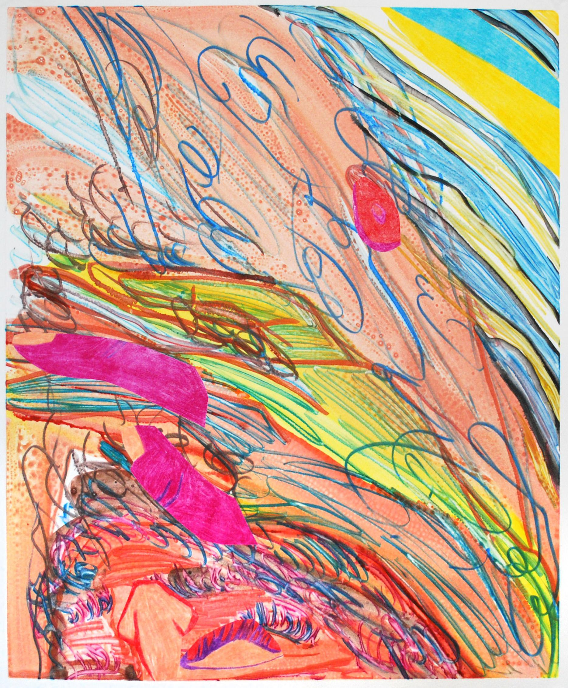 Sarah Faux Untitled Multicolor Body Monotype